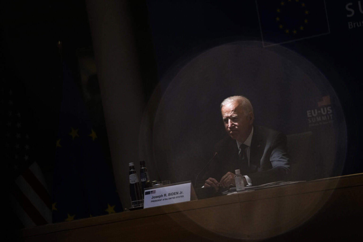 U.S. President Joe Biden at the EU-U.S. summit in Brussels in June 2021. Relieving the U.S. of some of the burden of European defense means giving the Biden administration more leeway to protect democracy at home, Constanze Stelzenmüller argues.