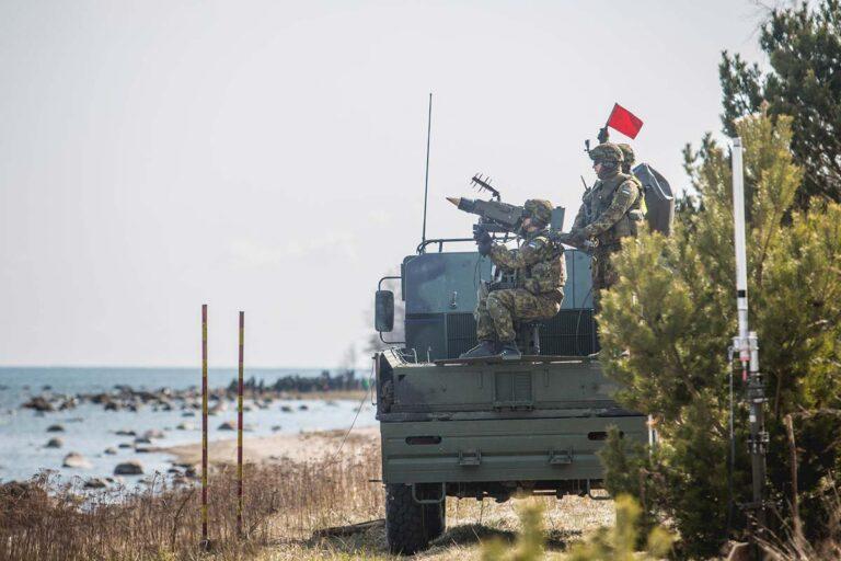 Mistral short-range air defence missile system.